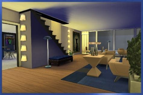 Blackys Sims 4 Zoo: Basement in Blue by Kosmopolit • Sims