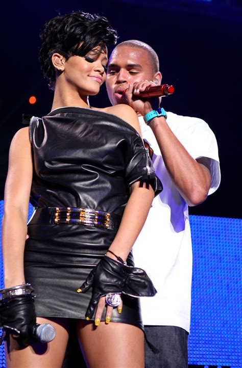 Back on talking terms? Ex-couple Chris Brown and Rihanna