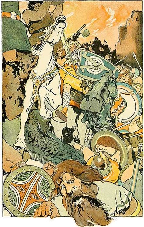 George Wright Illustrations for Norse Stories Retold from