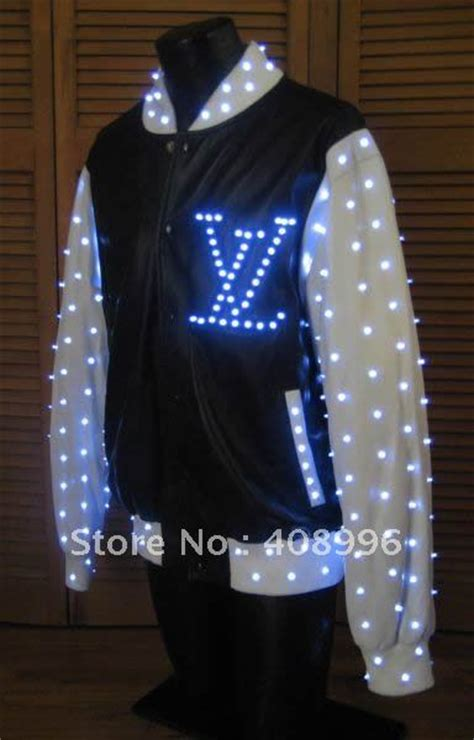 LED luminous jacket for performance/glowing clothes /light