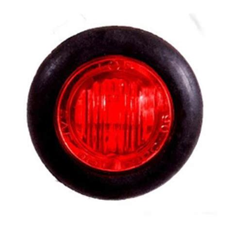 LED Mini Clearance 3/4 Inch Light Red/Red with 3 Diodes