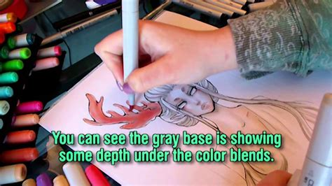 Copic Marker Drawing Tutorial: Using Copics like