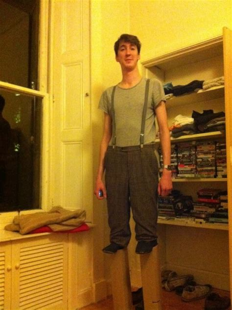 Halloween Costume for a Tall Guy: A Short Man on Stilts