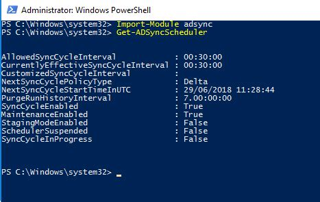 Force a sync from Azure AD Connect to Office 365 | Exchange KB