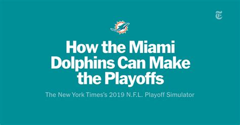 How the Miami Dolphins Can Make the Playoffs: Through Week