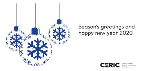 Season's greetings and happy new year from CERIC-ERIC - Ceric
