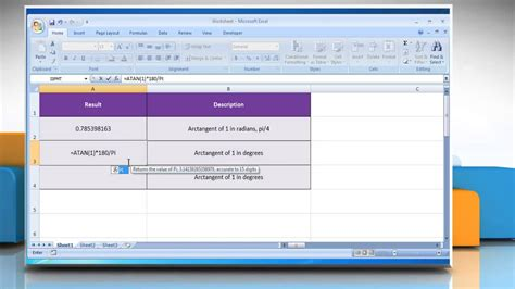 How to use the ATAN Function in Excel - YouTube
